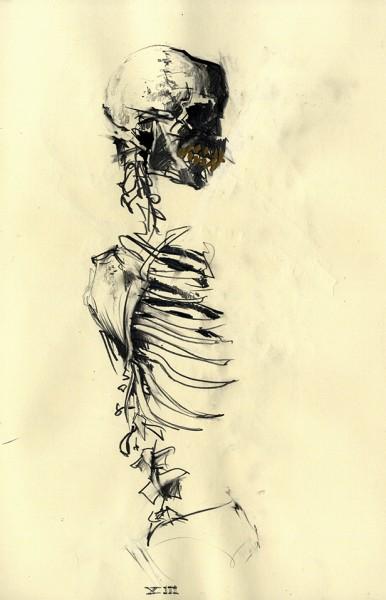 Death Sketchbook Pencil Drawing