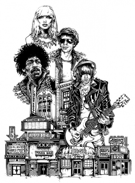 CBGB Drawing proof