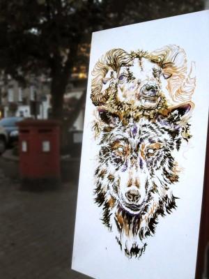 MW Portfolio Wolf Mural