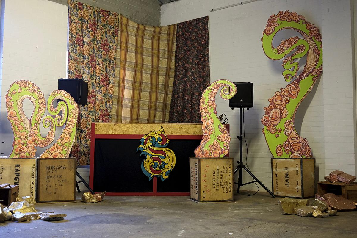Snake Oil Carnival Stage Props