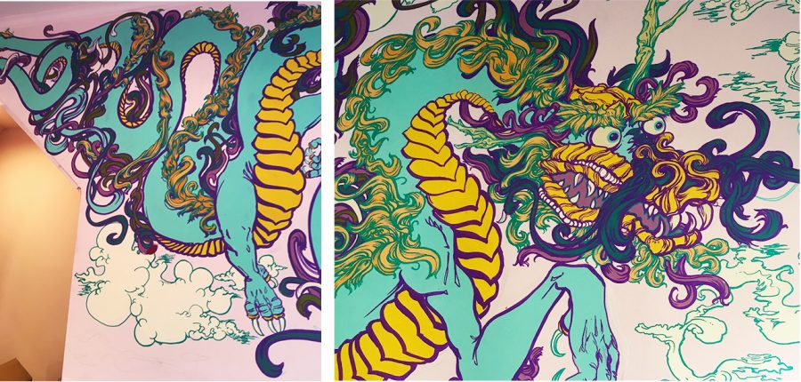 Chinese Dragon mural painting
