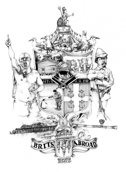 Brits Abroad Illustration