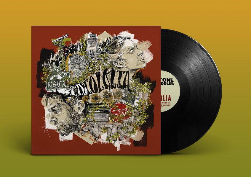 Idiolalia Vinyl album artwork illustration