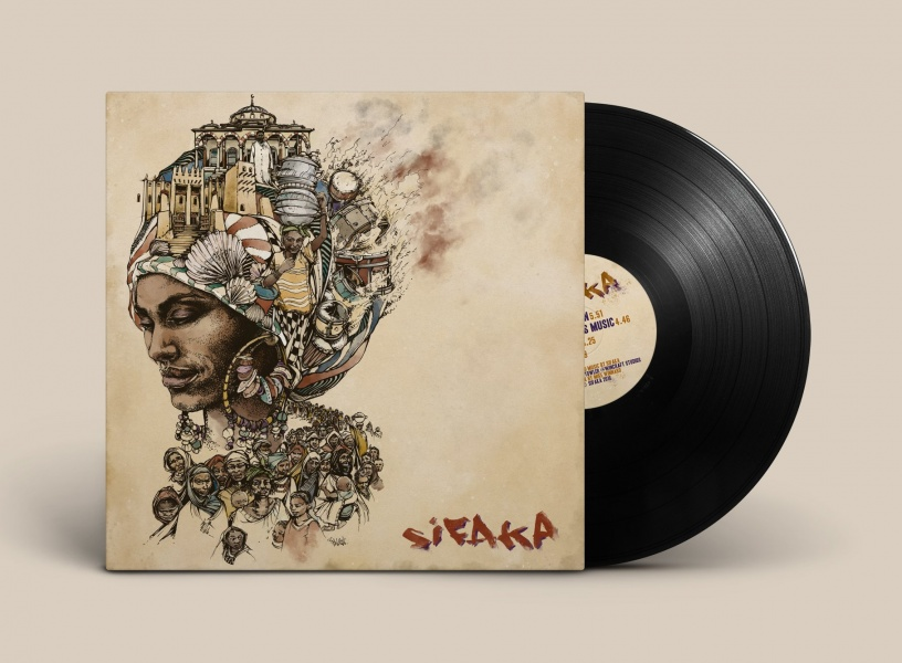 Illustrated Album Artwork sleeve Design Mali